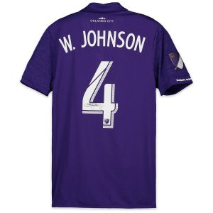 Autographed Orlando City SC Will Johnson Match-Used Purple #4 Jersey on September 1, 2018