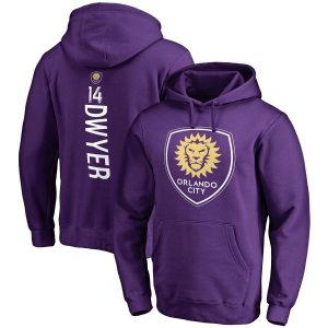 Dom Dwyer Orlando City SC Fanatics Branded Backer Name & Number Pullover Hoodie – Purple