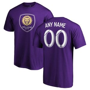 Men's Orlando City SC Fanatics Branded Purple Personalized Team Authentic T-Shirt
