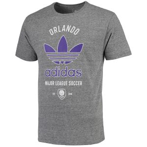 Men's Orlando City SC adidas Gray Classic Label Tri-Blend T-Shirt