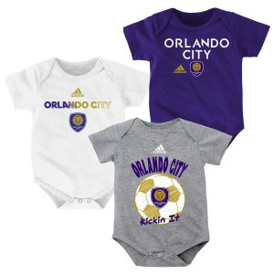 Newborn & Infant Orlando City SC adidas 3-Pack Bodysuit Set