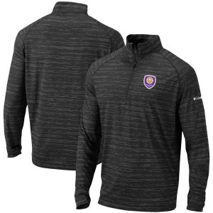 Orlando City SC Columbia Approach Raglan Quarter-Zip Pullover Jacket – Black