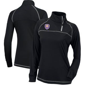 Orlando City SC Columbia Women's New Classic Quarter-Zip Pullover Jacket – Black