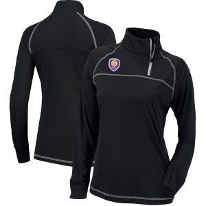 Orlando City SC Columbia Women's New Classic Quarter-Zip Pullover Jacket – Black