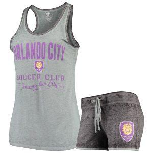 Orlando City SC Concepts Sport Women's Deed Tank & Shorts Sleep Set – Gray