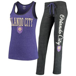 Orlando City SC Concepts Sport Women's Spar Tank Top & Pants Sleep Set