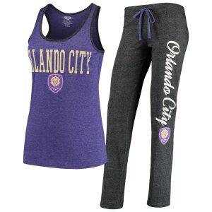 Orlando City SC Concepts Sport Women's Spar Tank Top & Pants Sleep Set