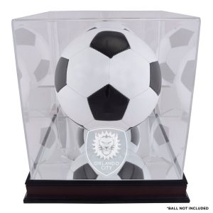 Orlando City SC Fanatics Authentic Mahogany Team Logo Soccer Ball Display Case