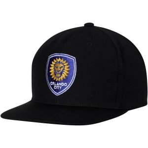 Orlando City SC Mitchell & Ness MVP Classic Adjustable Snapback Hat – Black