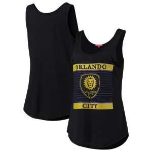 Orlando City SC Mitchell & Ness Women's Tonal Stripe Tank Top – Black