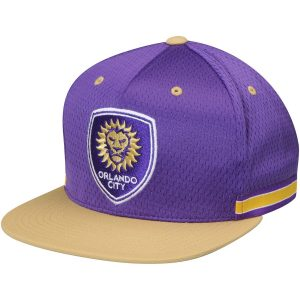 Orlando City SC Mitchell & Ness Woven Stripe Adjustable Snapback Hat – Purple