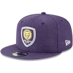 Orlando City SC New Era Heathered Hype 9FIFTY Snapback Hat – Purple