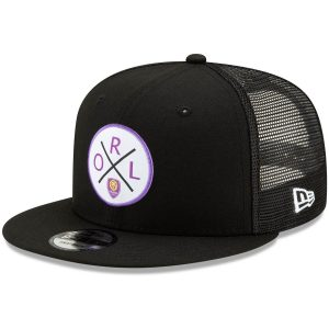 Orlando City SC New Era Quad Patch 9FIFTY Snapback Hat – Black