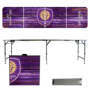 Orlando City SC Weathered Design 8′ Portable Folding Tailgate Table
