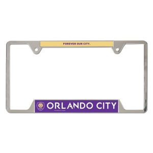Orlando City SC WinCraft Team Logo License Plate Frame