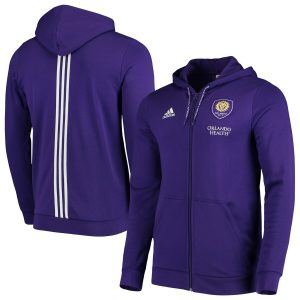 Orlando City SC adidas 2019 Full-Zip Travel Jacket – Purple