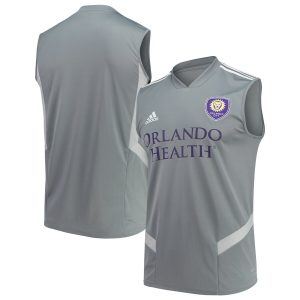 Orlando City SC adidas 2019 Sleeveless Training Jersey – Gray