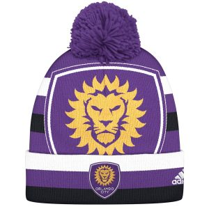 Orlando City SC adidas Double Logo Cuffed Knit Hat with Pom