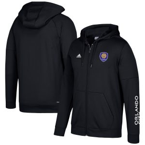 Orlando City SC adidas Two-Hit climawarm Full-Zip Hoodie – Black