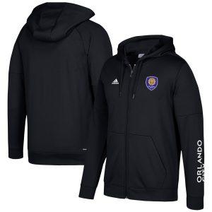 Orlando City SC adidas Two-Hit climawarm Full-Zip Hoodie – Black