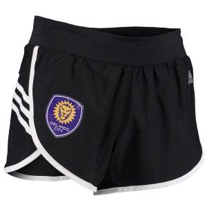 Orlando City SC adidas Women's 3-Stripe Woven Shorts – Black