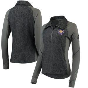 Orlando City SC adidas Women's Logo Driven 2.5 climalite Quarter-Zip Pullover Jacket – Gray