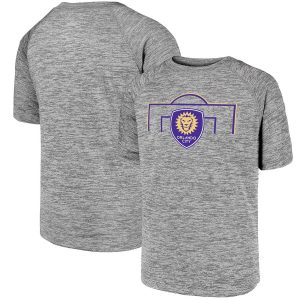 Youth Orlando City SC Fanatics Branded Heathered Gray Just Getting Started Raglan T-Shirt