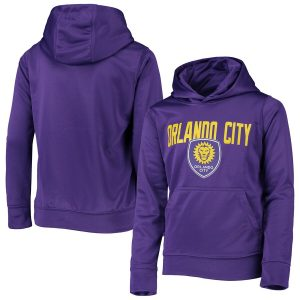Youth Orlando City SC Purple Pacesetter Pullover Hoodie